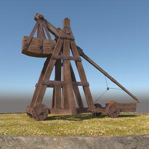 3D medieval catapult model