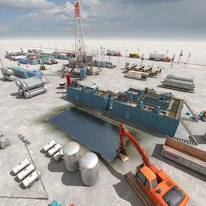 3d land rig scenario model