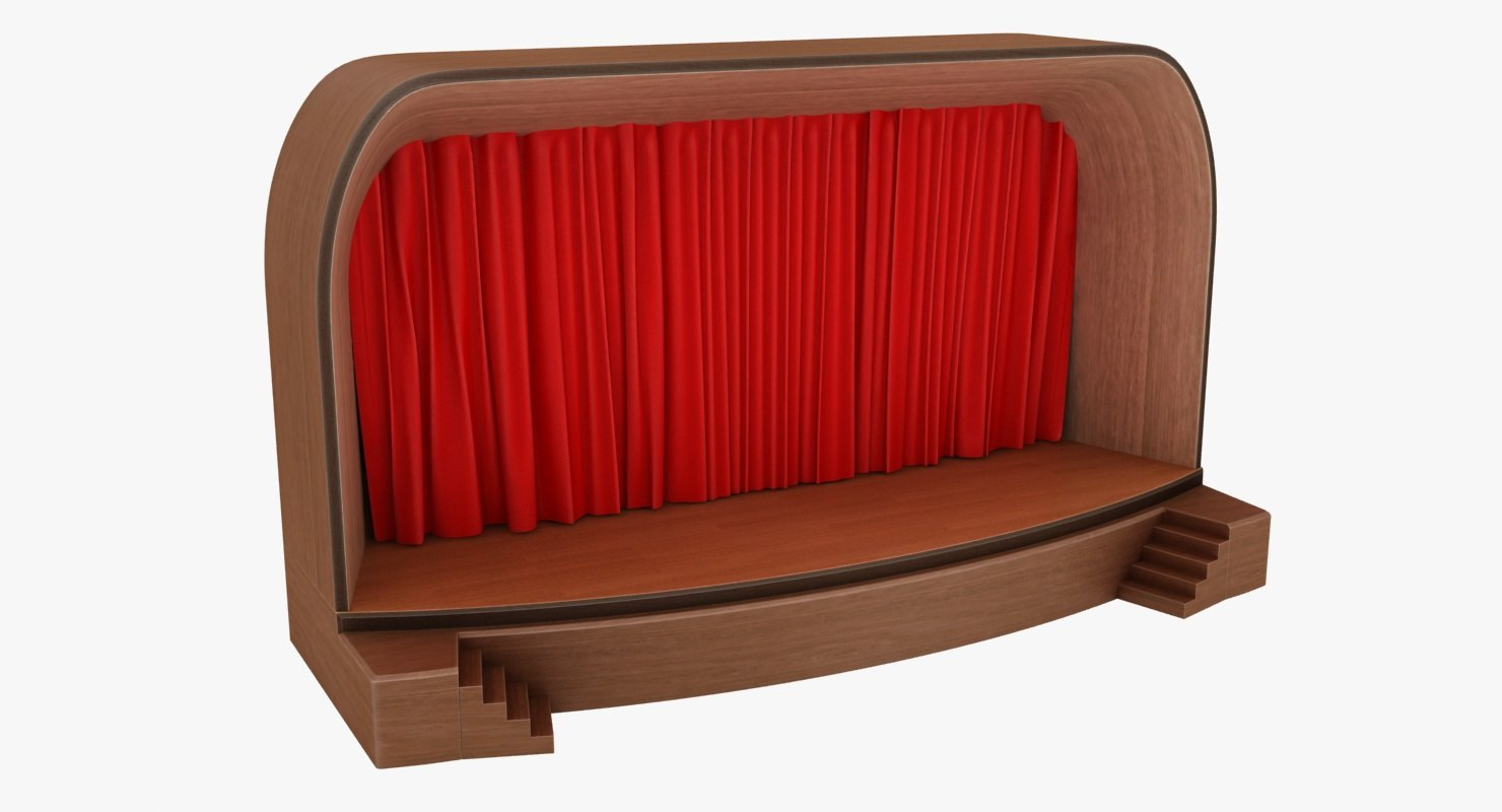stage curtain model