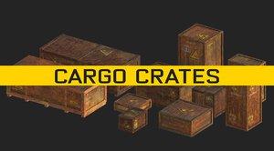 cargo crates 3D model