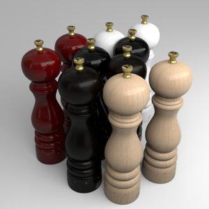 3D peugeot pepper salt model