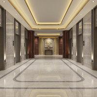elevator lobby scene 3D