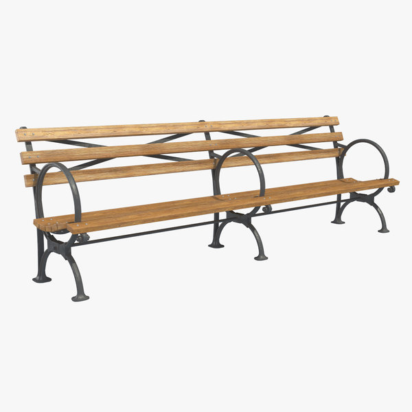 3D city bench