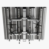 ceiling ventilation 3D model