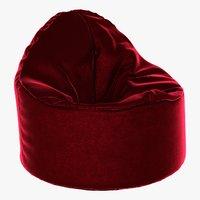 pouf red model