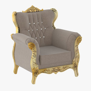 royal armchair 3D model