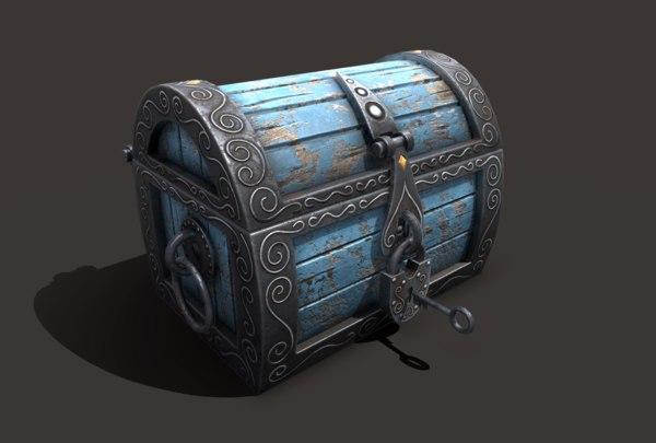 3D model chest magic