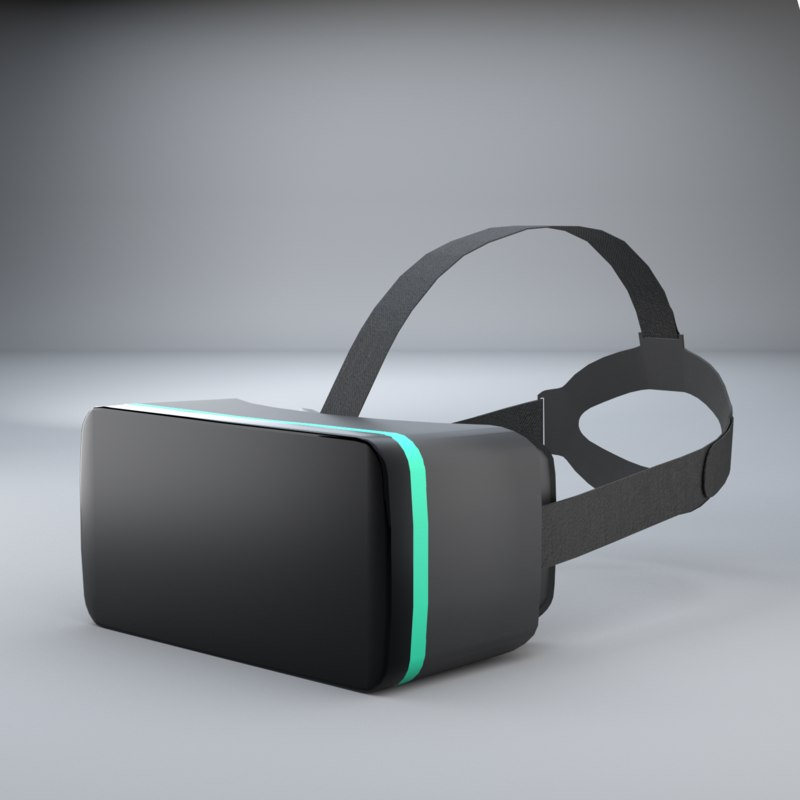 vr headset simple 3D model