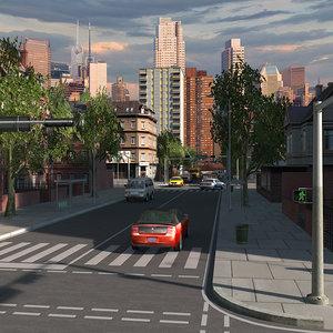 city building bronx style 3d model
