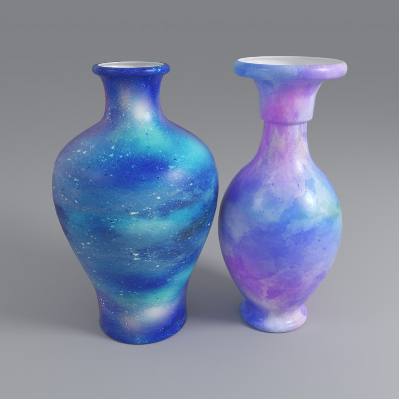 painted vase 3D model
