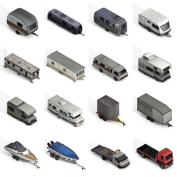recreational vehicles 3D model