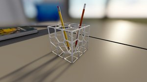 printable parametric pen holder 3D model