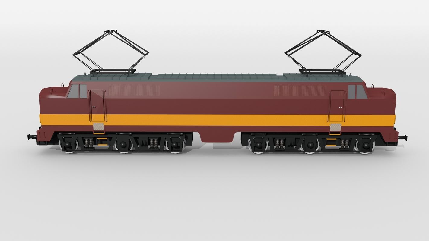 dutch electric locomotive 3D model