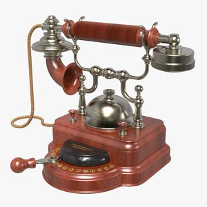 3D antique ericsson desk phone