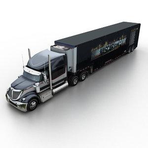 3d model 2013 international lonestar harley-davidson
