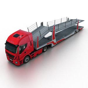 2013 iveco stralis hi-way 3d model