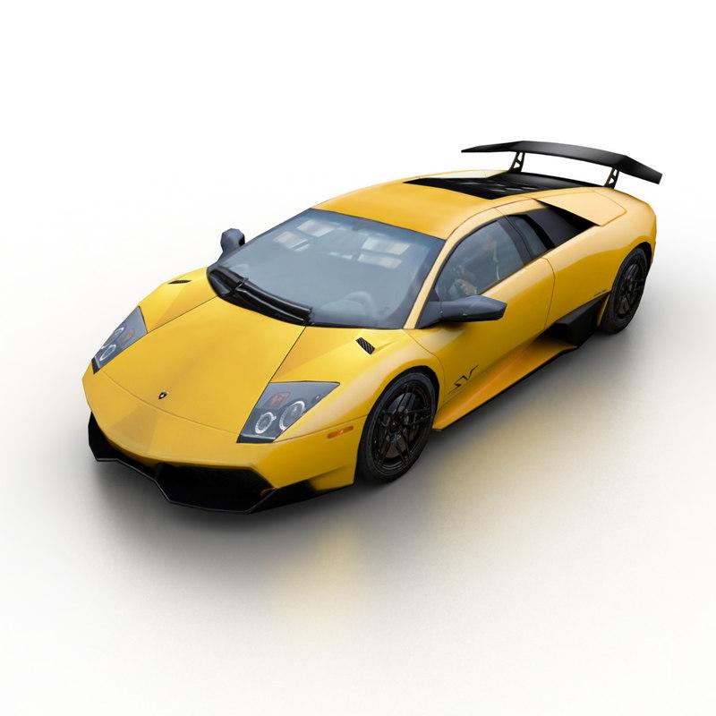 2010 Lamborghini Murcielago Lp670 4 3d Model