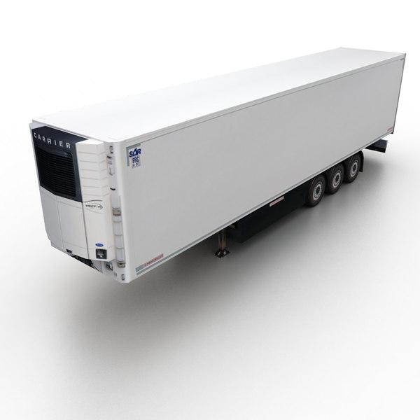 3d obj refridgerable trailer