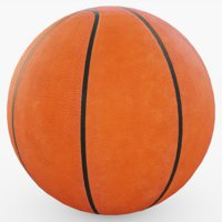 3D basketball ball basket model