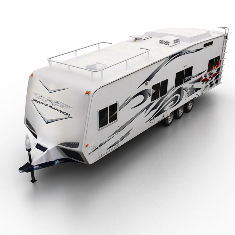 3d 2008 toy hauler semi-trailer model