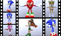 sonic animation shadow model