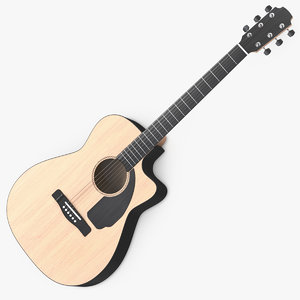 classic acoustic guitar 3D model