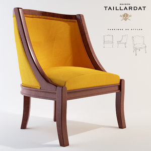 armchair isabella chair 3D model