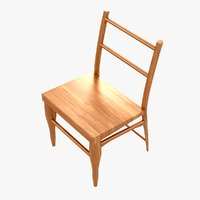 wooden country chair wood model