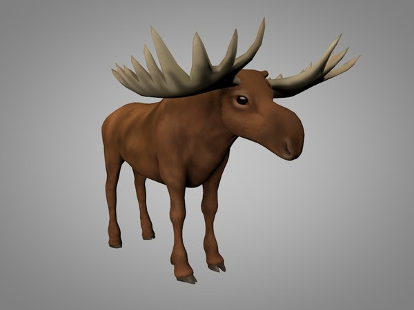 3D animal deer mammal model