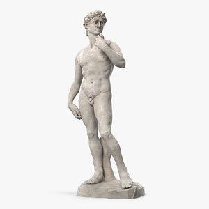 3D david statue michelangelo model