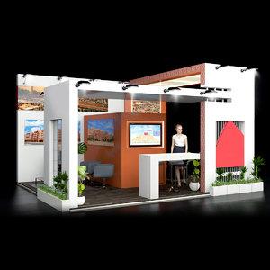 3D model stand exhibition design