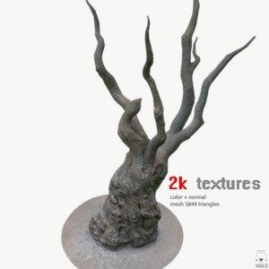 3D tree trunk 2k