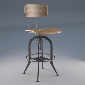 vintage toledo bar chair 3D model
