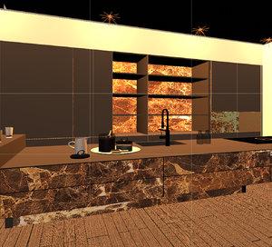 3D kitchen design onyx model