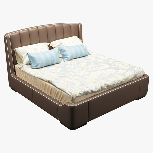 3D model bed photorealistic realistic