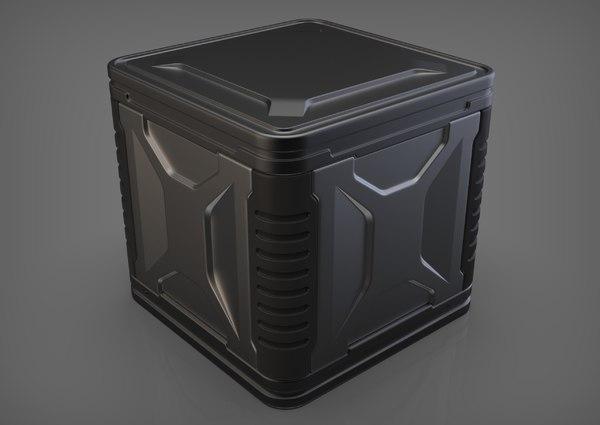 sci-fi container box 3D model
