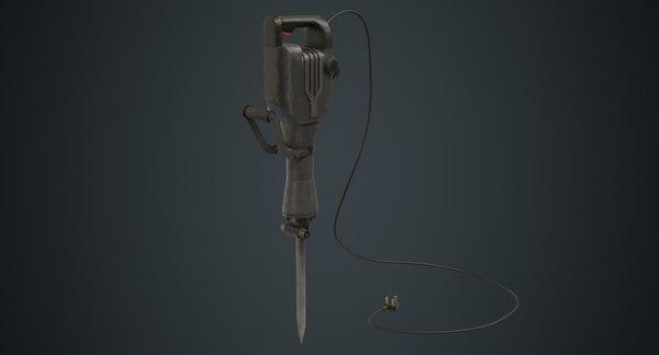 3D jackhammer 1b model