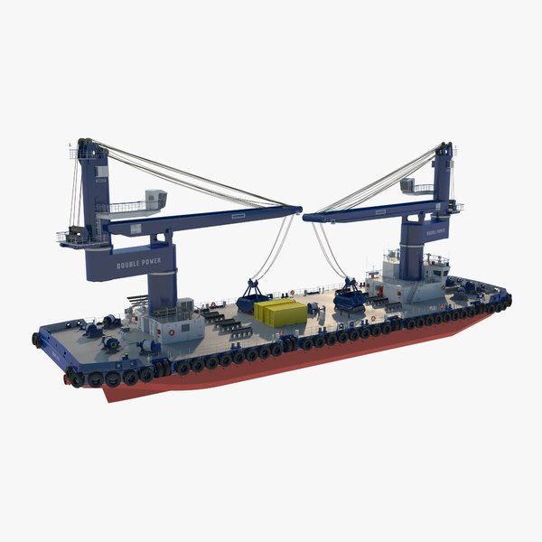 cargo ship cranes 3D model