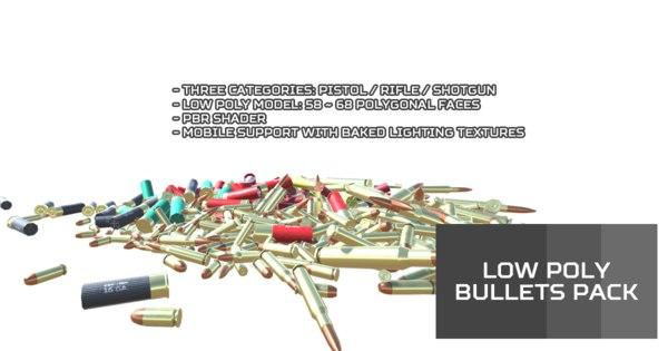 3D unity bullets model