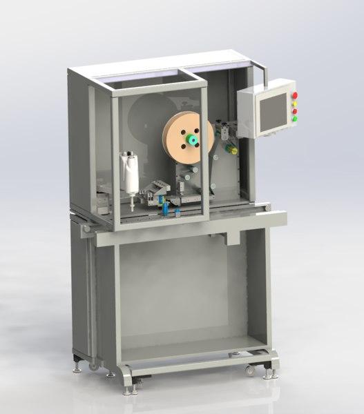 3D model manipulator labeling machine