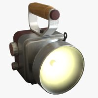 retro handheld flashlight 3D model