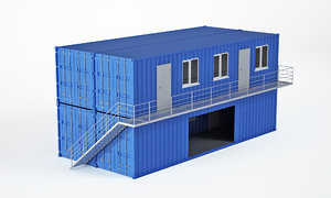 3D 40ft container