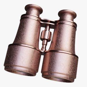3D model vintage binoculars