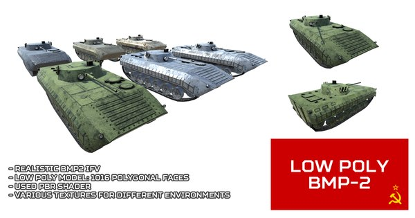 3D unity bmp2 ifv vehicle model