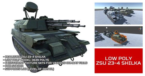 3D unity zsu 23-4 shilka
