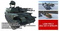 Low Poly ZSU 23-4 Shilka