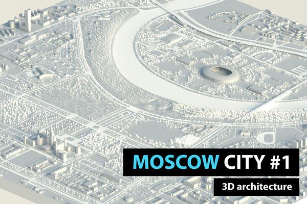 3D moscow city model