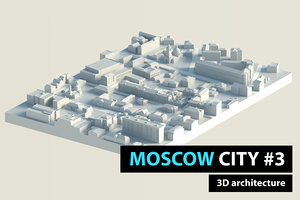 3D moscow city low-poly model