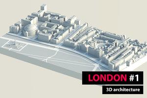 london city hyde park 3D model