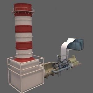 gas turbine 3D